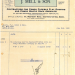 Mells Invoice July 1933